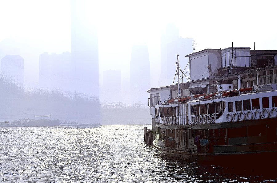 Mist Over Victoria Harbour Photograph  - Mist Over Victoria Harbour Fine Art Print