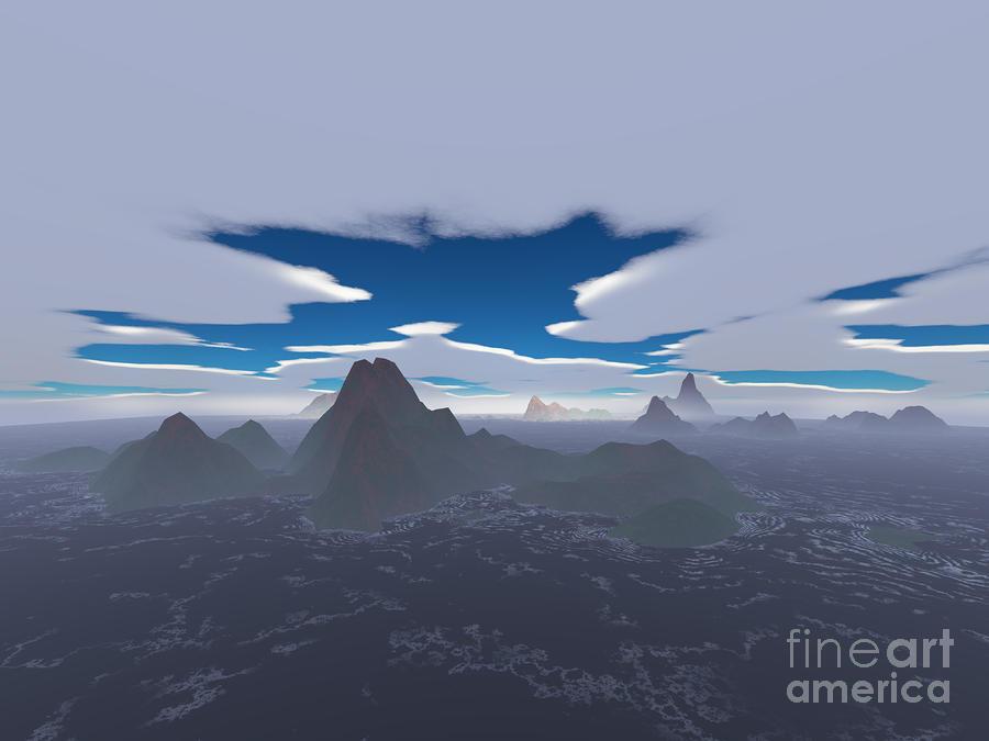 Misty Archipelago Digital Art