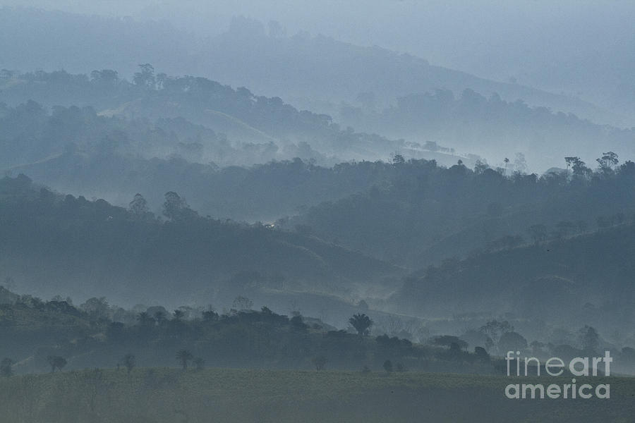 Misty Hills Of Chiriqui Photograph