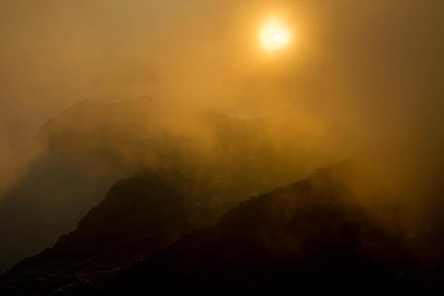 Asia Photograph - Misty Hongpo Sunset South Korea by Gabor Pozsgai