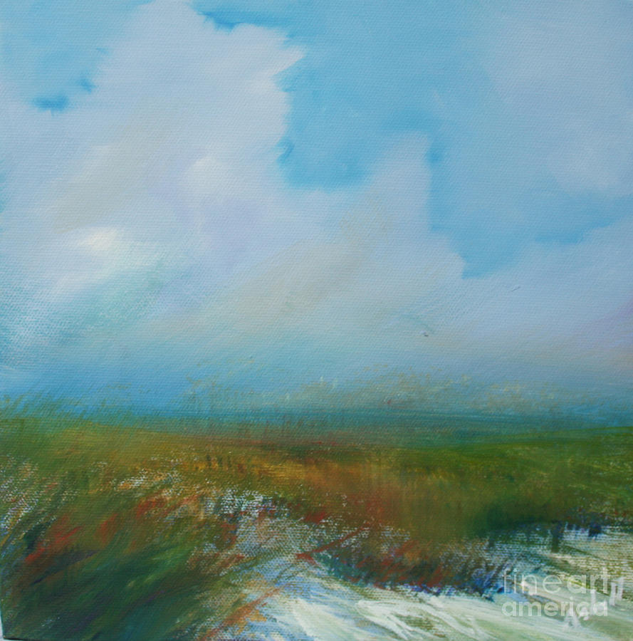 Misty Marsh Painting  - Misty Marsh Fine Art Print