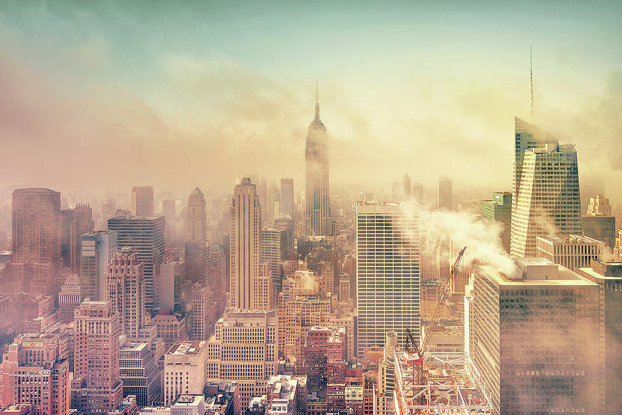 Misty Midtown Manhattan Photograph  - Misty Midtown Manhattan Fine Art Print