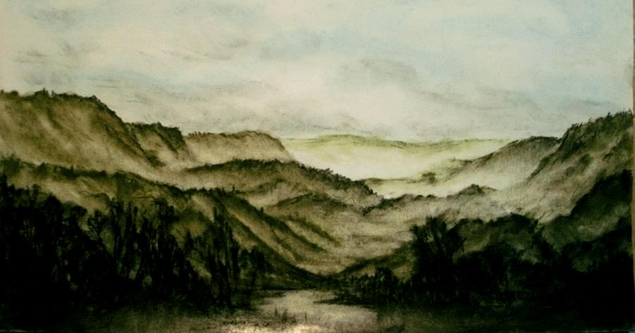 Misty Morning In Pa Pastel