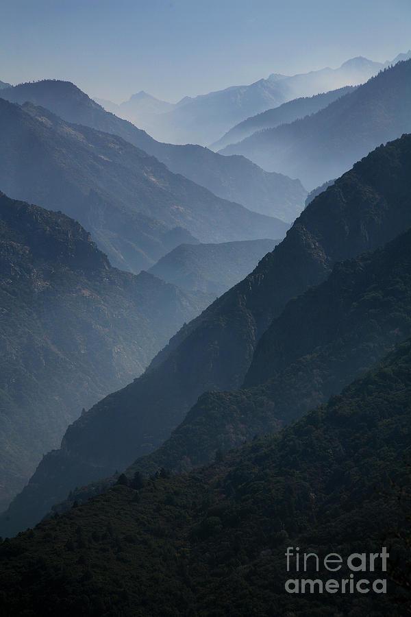 Misty Peaks Photograph