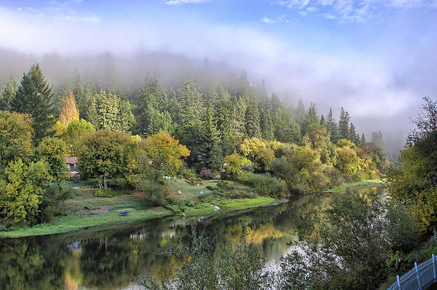Misty Russian River Photograph