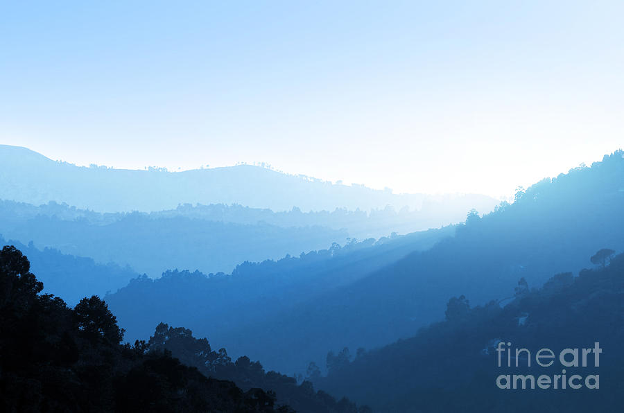 Misty Valley Photograph  - Misty Valley Fine Art Print