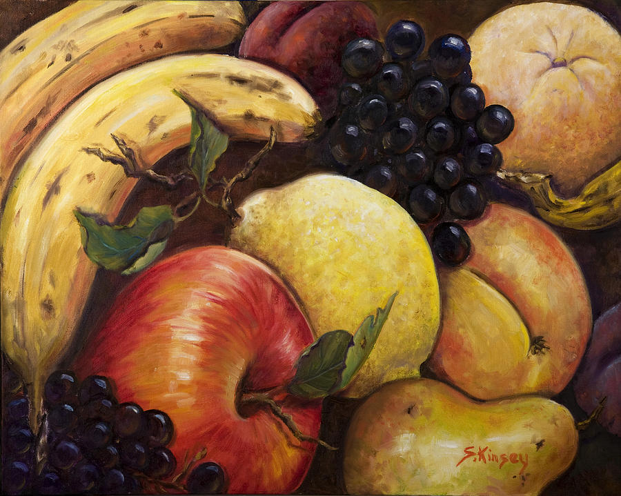 Mixed Fruit Painting  - Mixed Fruit Fine Art Print
