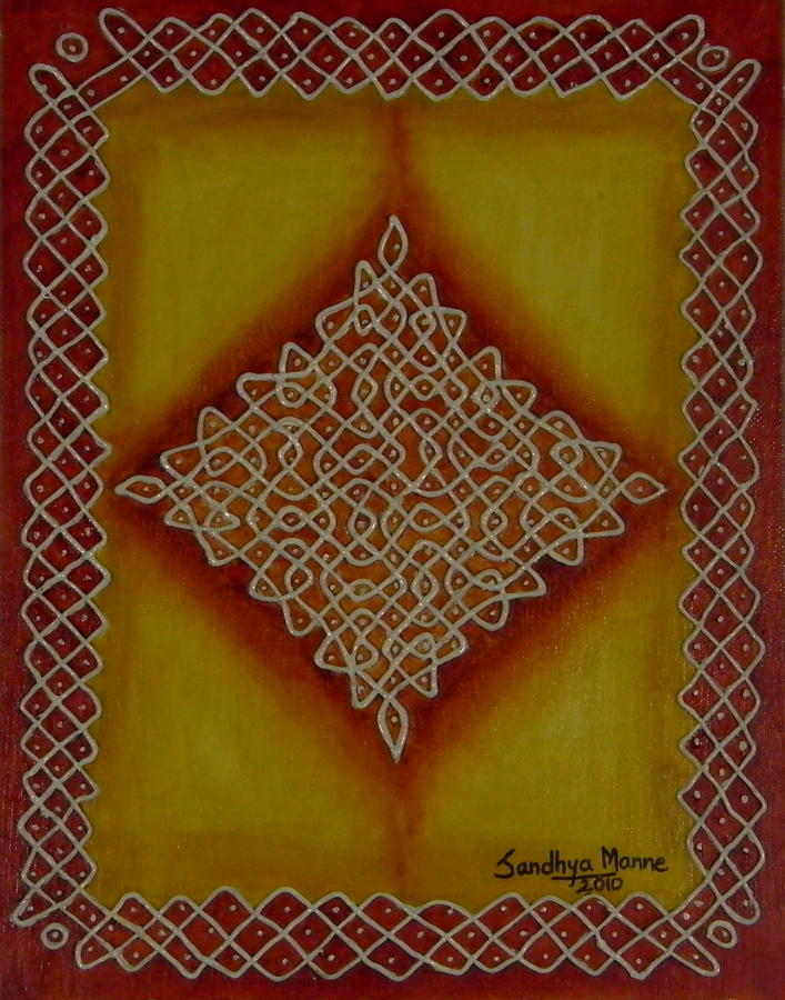 Mixed Media Kolam Four Mixed Media