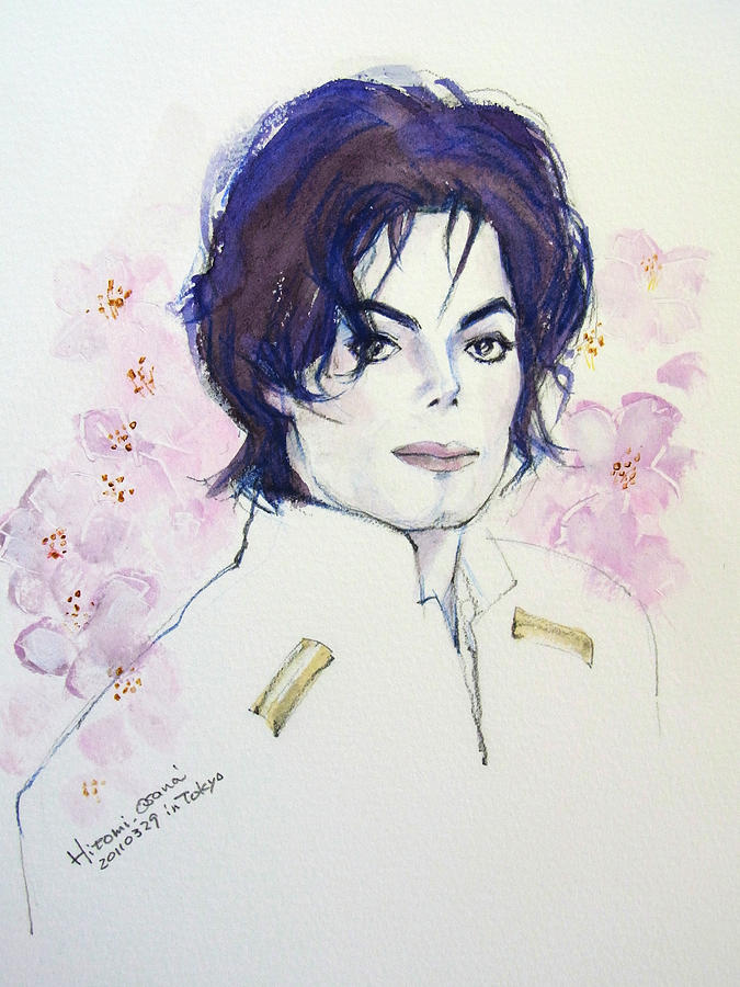 Mj In Sakura Painting