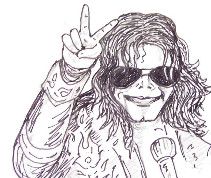 Pop King Drawing - MJ by Rajan V