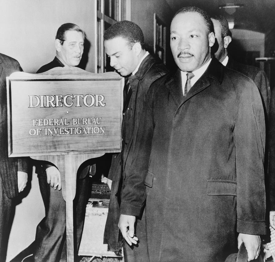 Mlk Enters The Fbi Building. Dr. Martin Photograph  - Mlk Enters The Fbi Building. Dr. Martin Fine Art Print