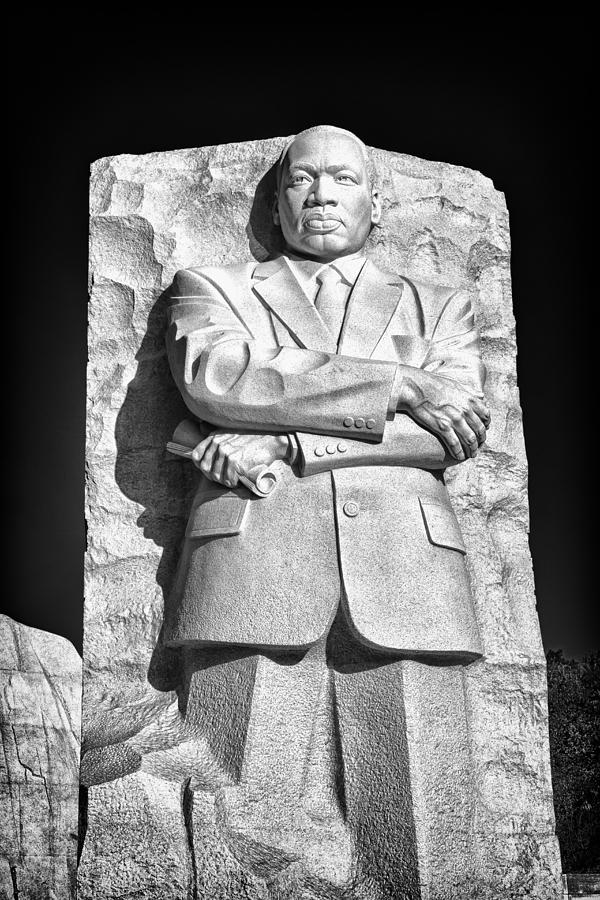 Mlk Memorial In Black And White Photograph