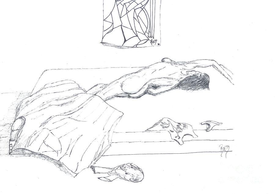 Mmm...stretch... Sketch Drawing