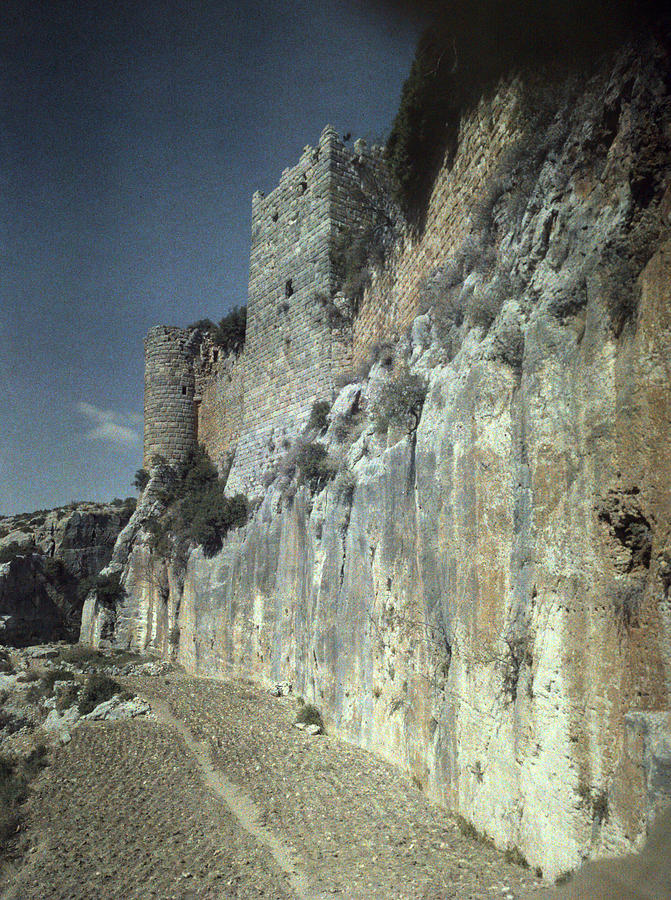 1930s Photograph - Moat Of Saladins Castle, A Byzantine by Everett