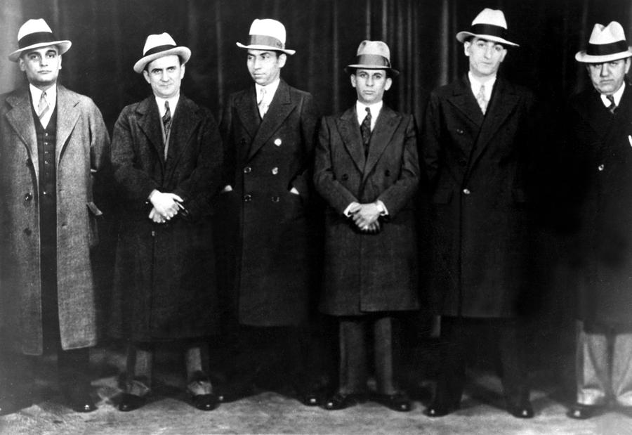 Mobsters Left To Right Paul Ricca Photograph  - Mobsters Left To Right Paul Ricca Fine Art Print