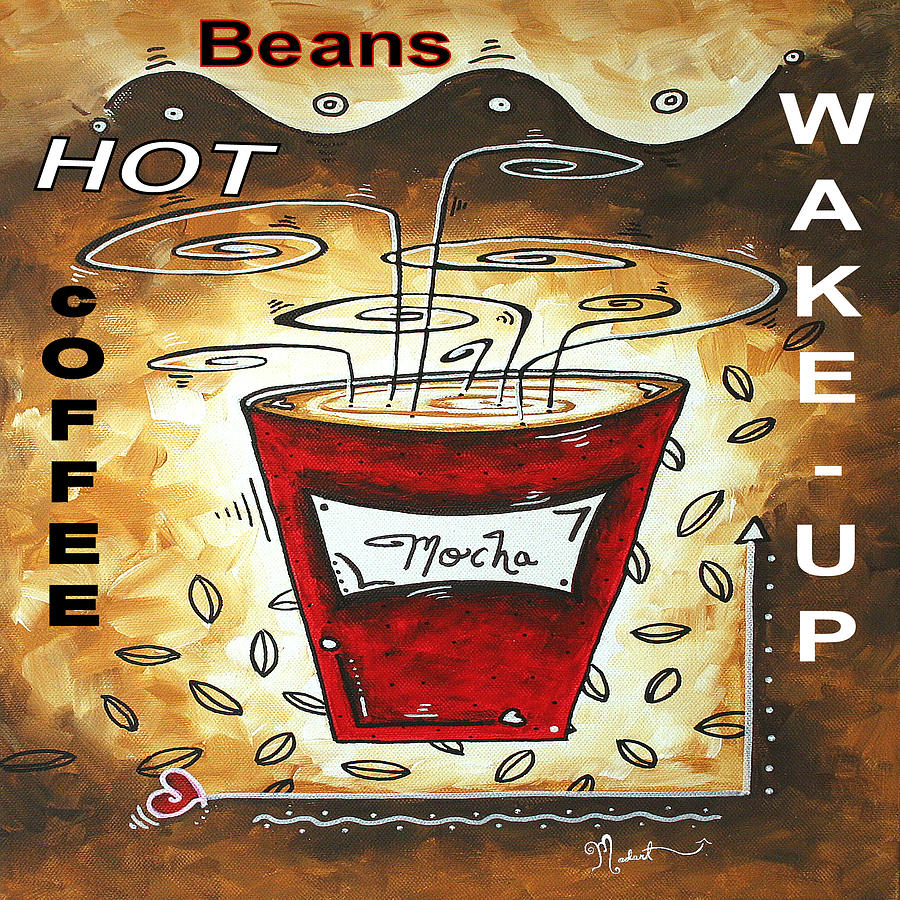 Mocha Beans Original Painting Madart Painting
