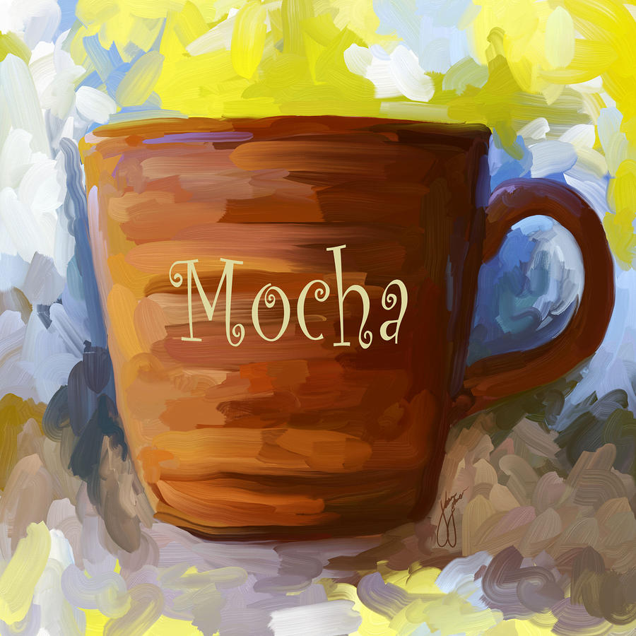 Mocha Coffee Cup Painting