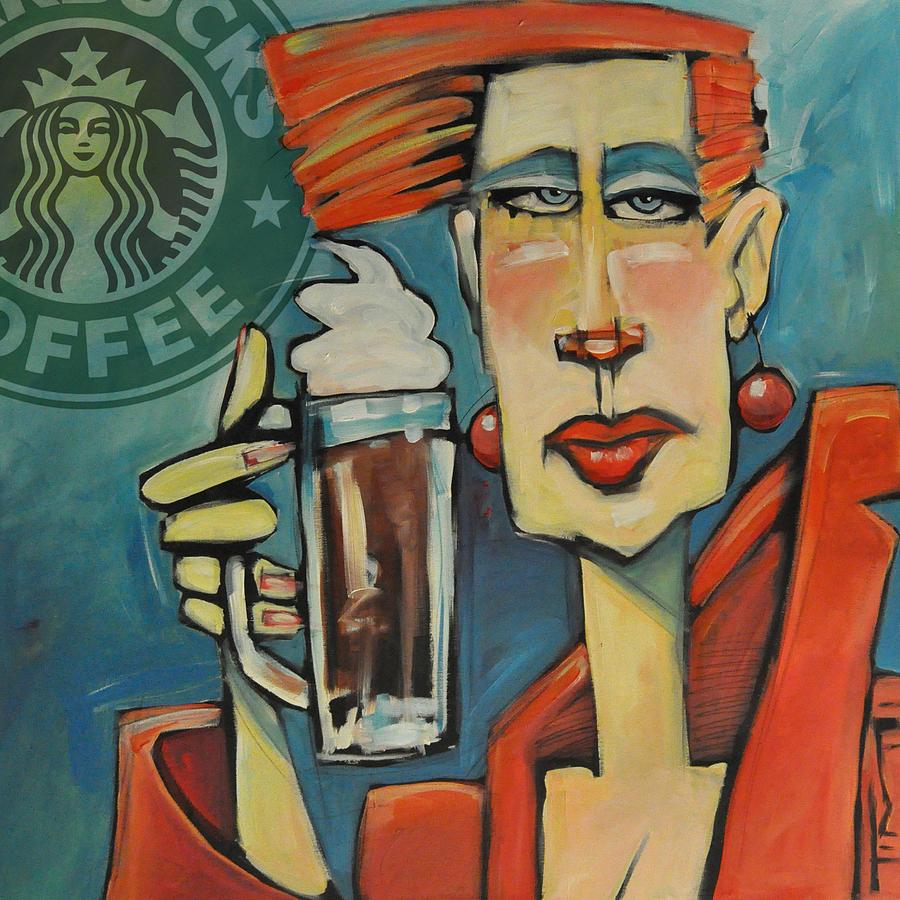 Mocha Double Shot With Starbucks Logo by Tim Nyberg