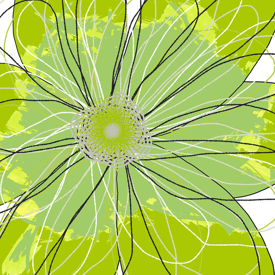 Moda Flower Mix I  Mixed Media  - Moda Flower Mix I  Fine Art Print