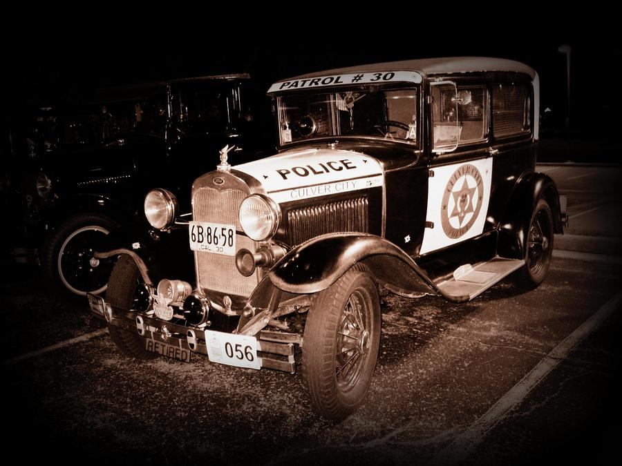 Model A Culver City Police Bw Photograph