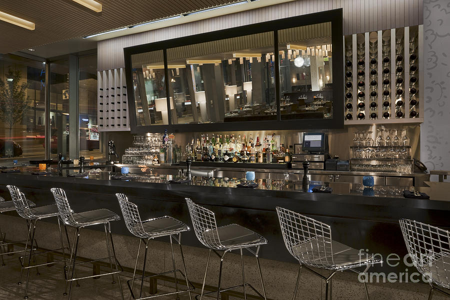 Alcohol Photograph - Modern Bar by Robert Pisano