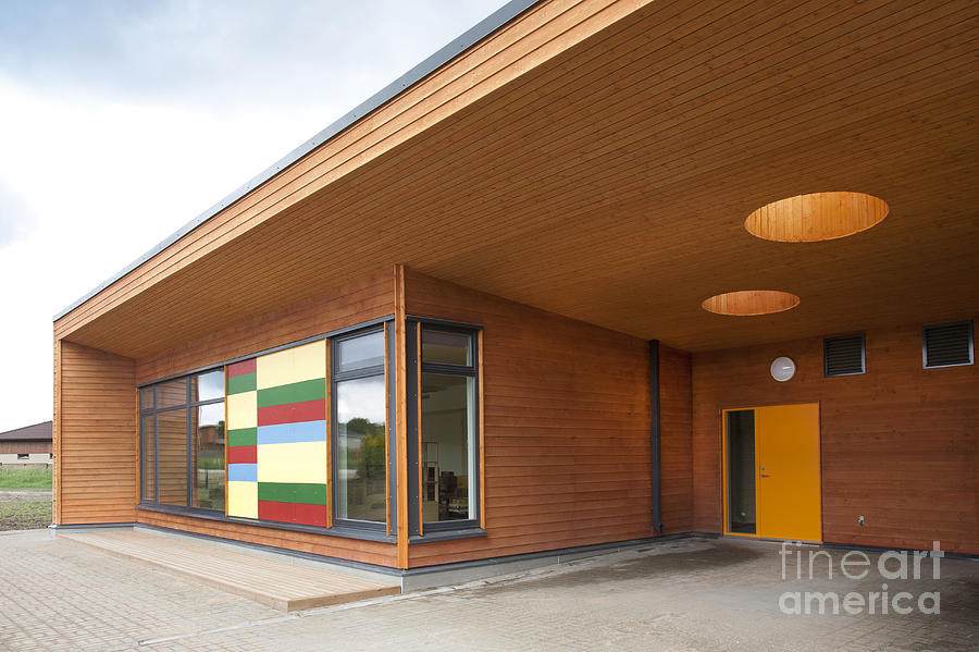Modern Elementary School Building Photograph by Jaak Nilson
