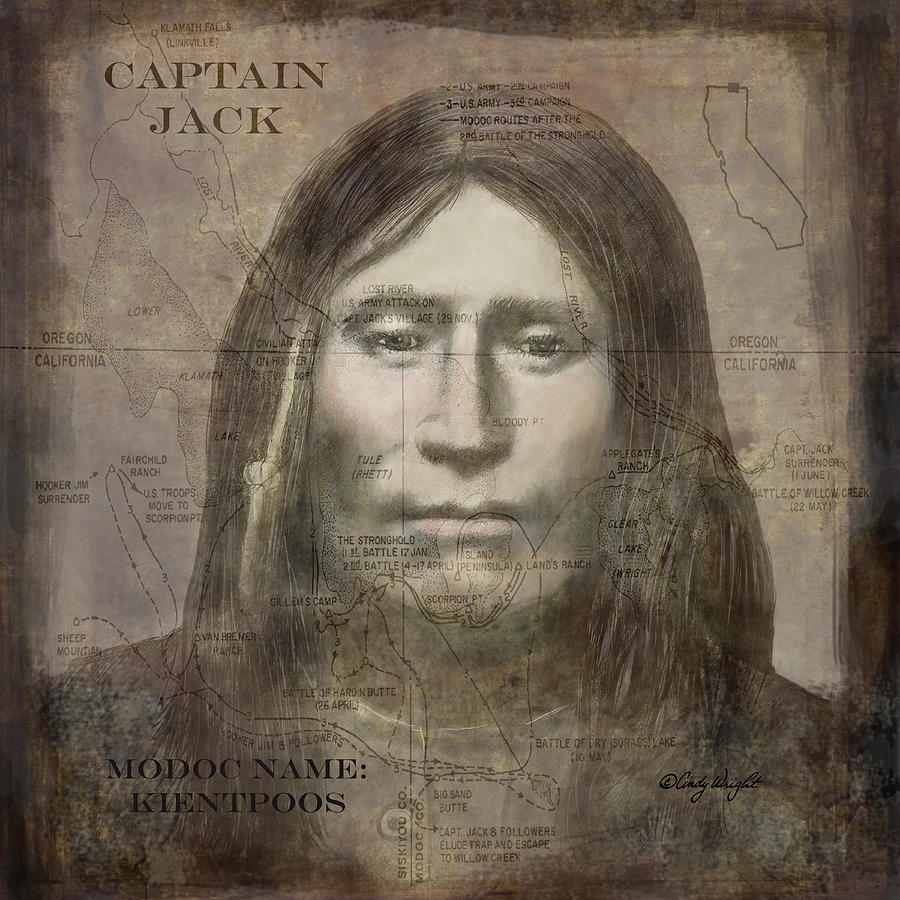 Modoc Indian Captain Jack Drawing