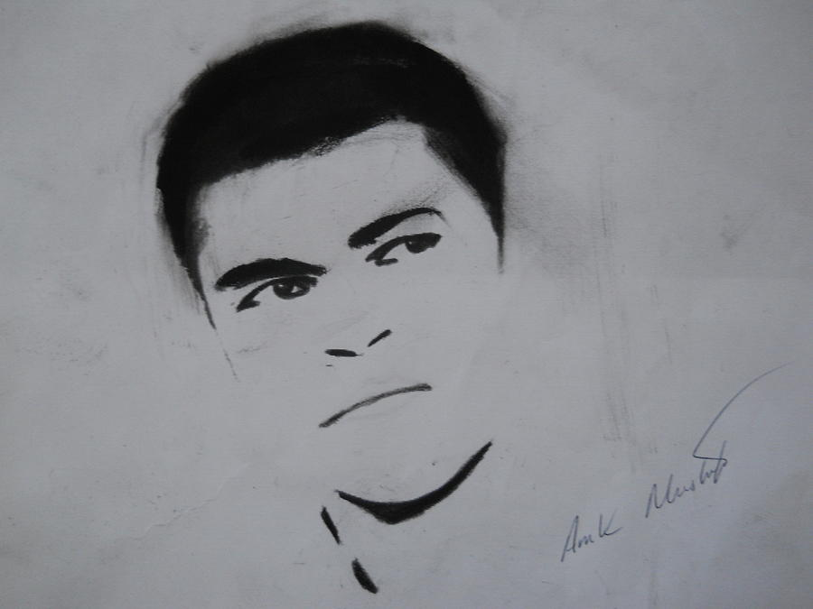 Mohammed Drawing - Mohammed Ali by Ahmed Mustafa