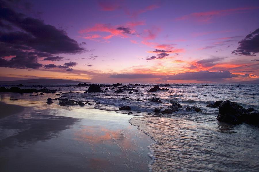 Mokapu Beach Sunset Photograph