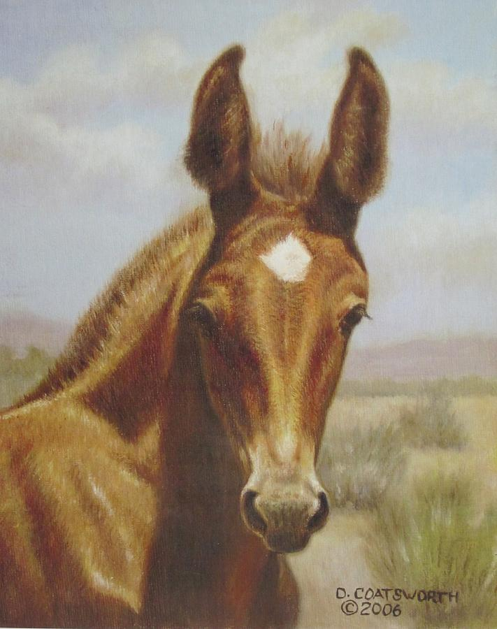 Molly Mule Foal Painting  - Molly Mule Foal Fine Art Print