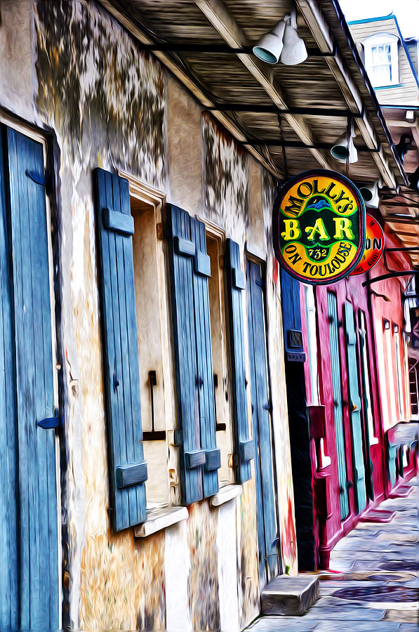 Mollys Bar On Toulouse Photograph  - Mollys Bar On Toulouse Fine Art Print