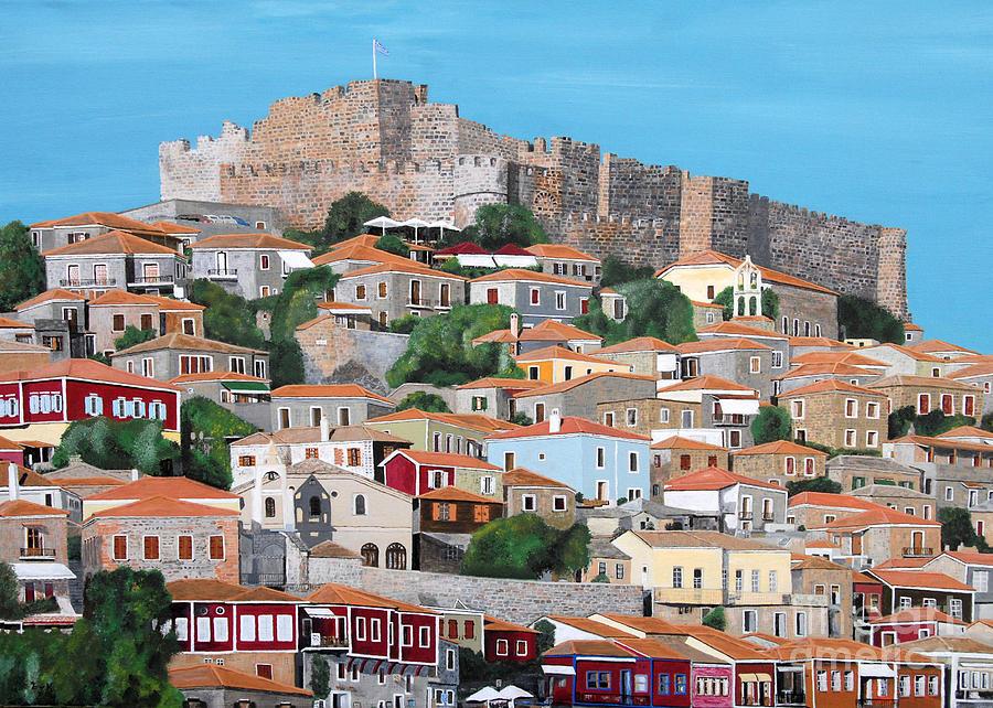 Molyvos Lesvos Greece Painting