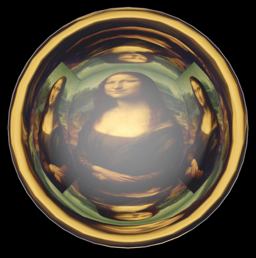Mona Lisa Eye   Painting  - Mona Lisa Eye   Fine Art Print