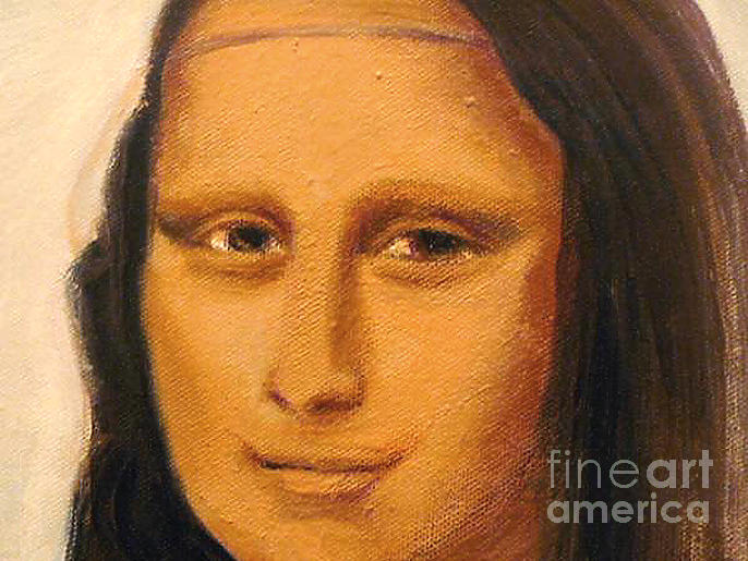 Mona Lisa  Zoom Of The Face Painting