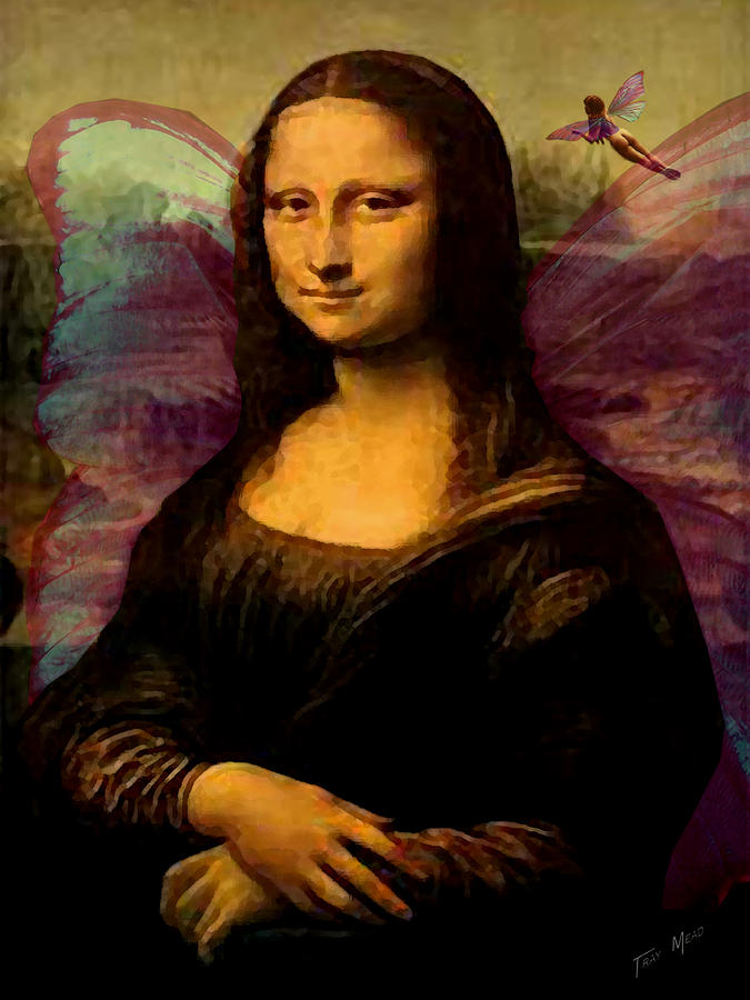 Monalisa The Fairy Painting  - Monalisa The Fairy Fine Art Print