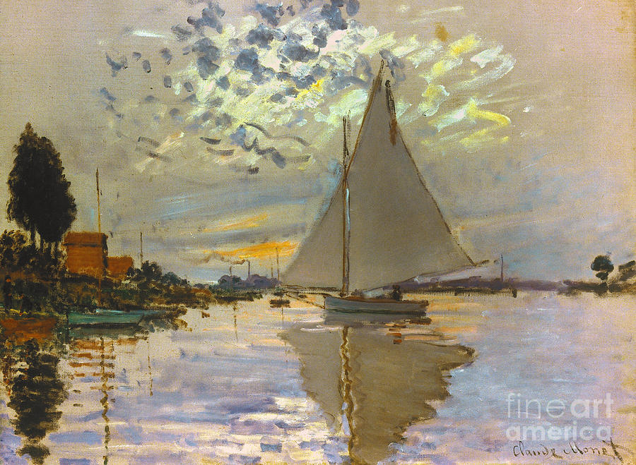 Monet: Sailboat Photograph  - Monet: Sailboat Fine Art Print