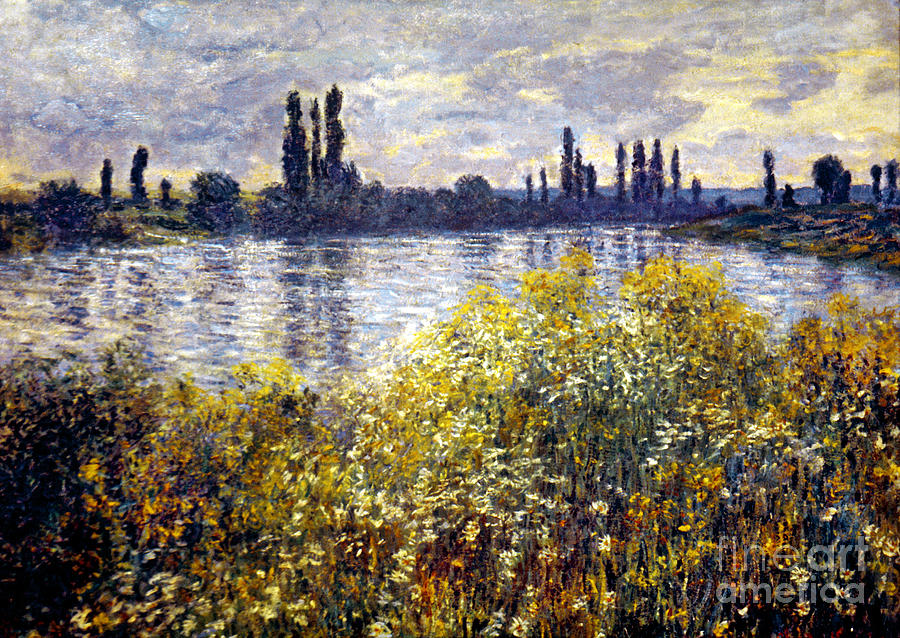 Monet: Seine/vetheil, 1880 Photograph