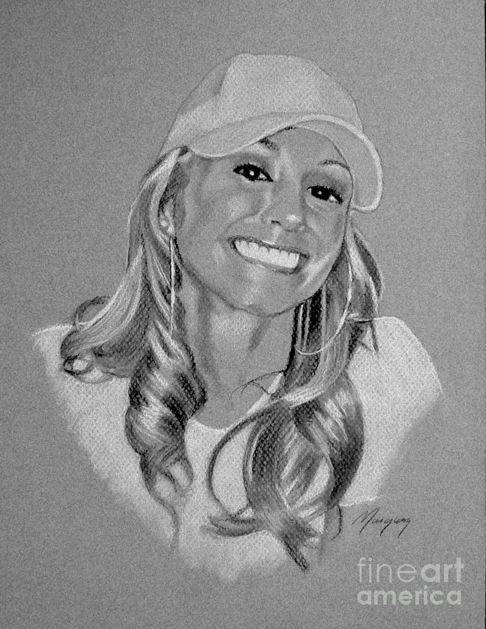 Monique Drawing  - Monique Fine Art Print