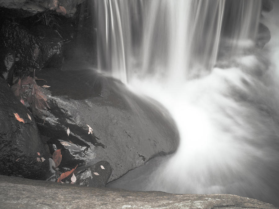 Monochrome Falls Photograph