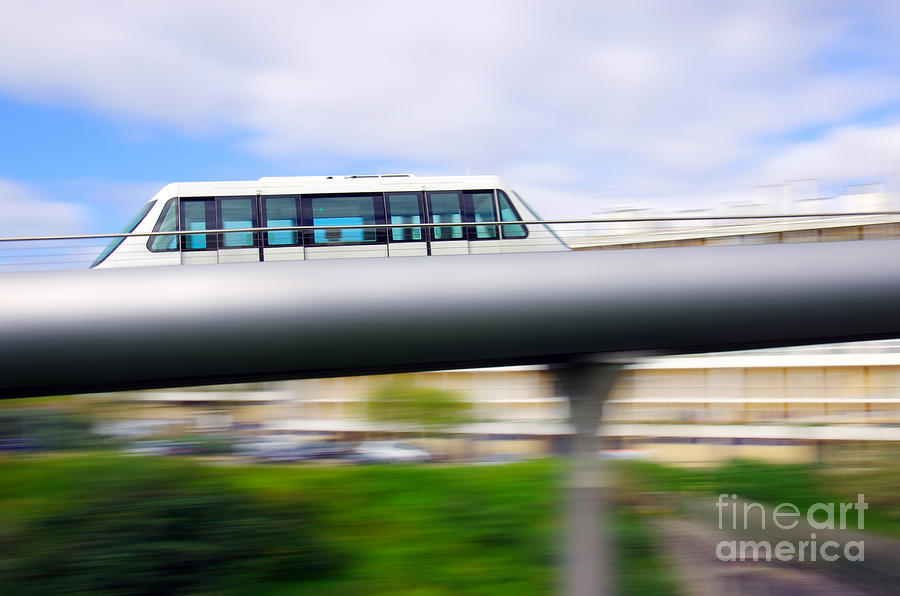 Monorail Carriage Photograph  - Monorail Carriage Fine Art Print