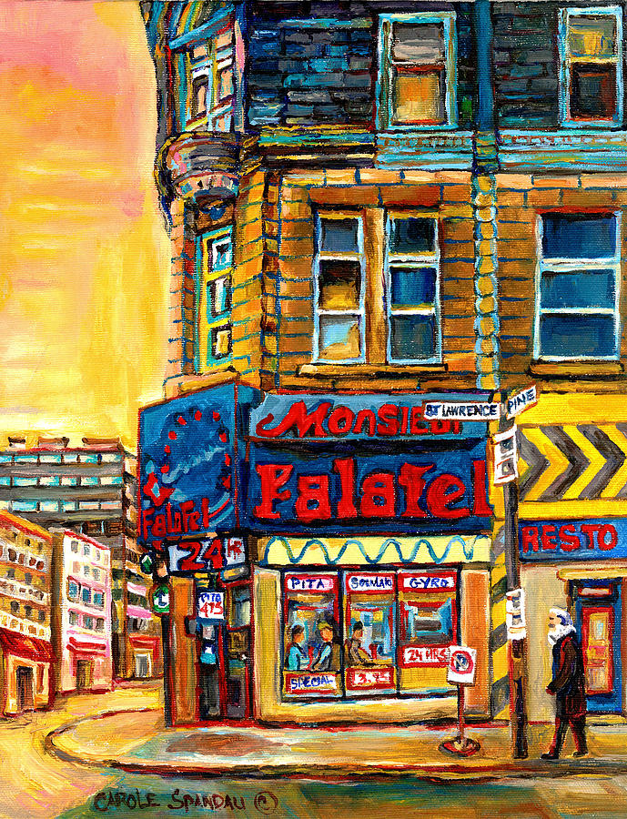 Monsieur Falafel Painting