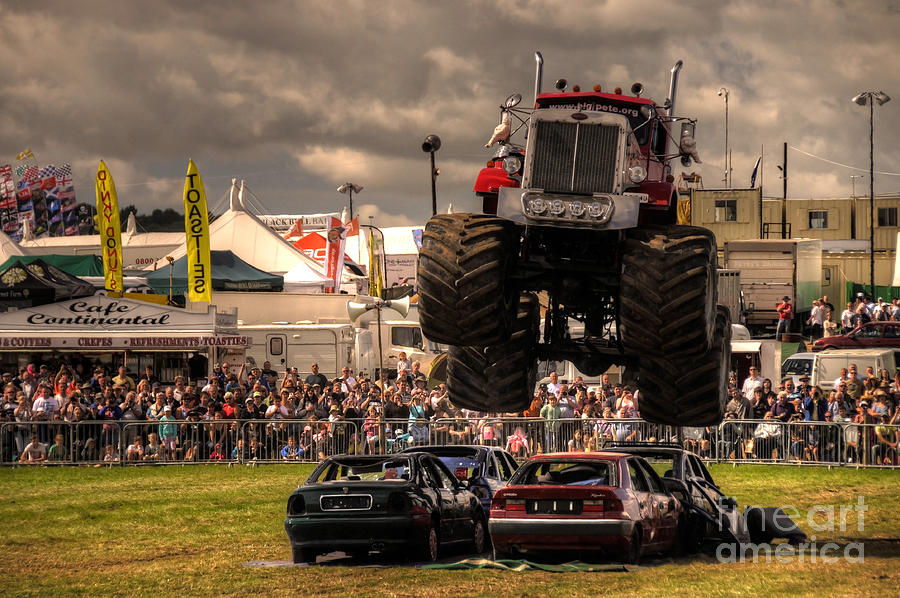 Monster Truck Destruction  Photograph  - Monster Truck Destruction  Fine Art Print