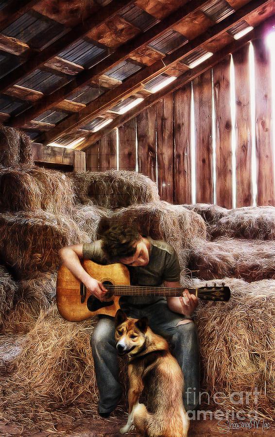 Cowboy Painting - Montana Boy by Shawna Mac