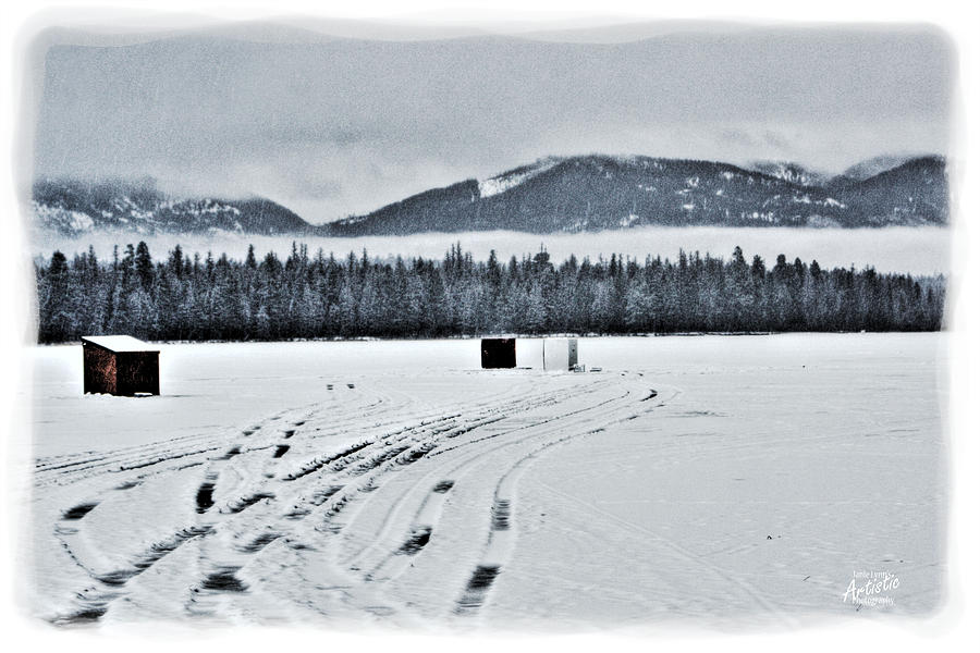 Montana Ice Fishing Photograph