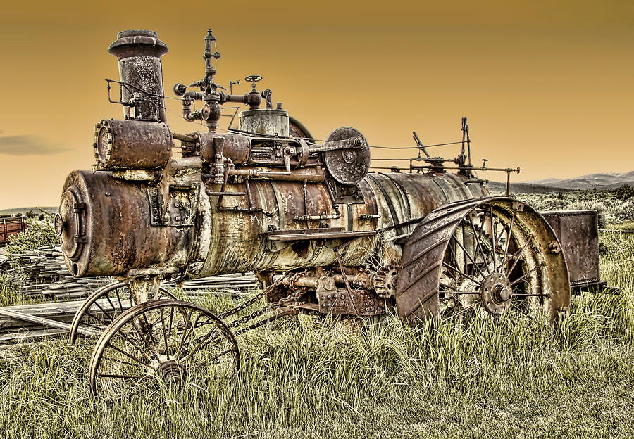 Montana Steam Punk - Nevada City Ghost Town Photograph