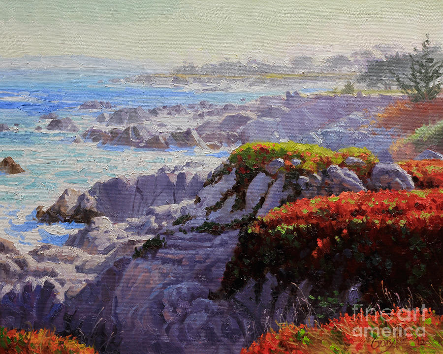 Monteray Bay Morning 2 Painting  - Monteray Bay Morning 2 Fine Art Print