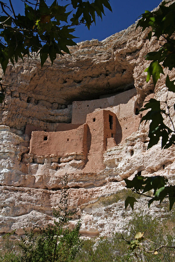 Montezuma Castle Cliff Dwellings In The Verde Valley Of Arizona Photograph