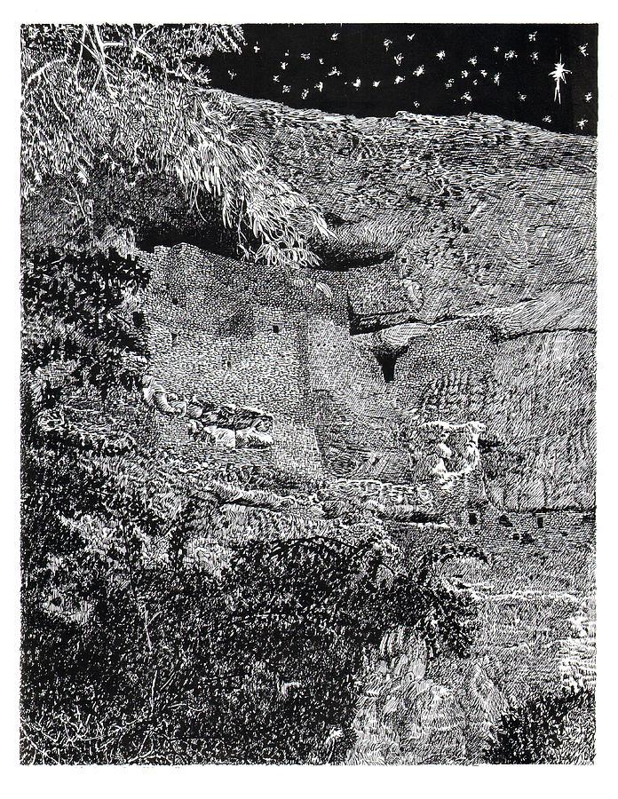 Montezuma Castle Drawing