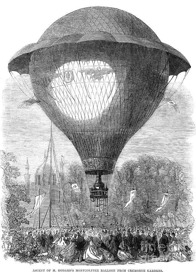 Montgolfier Balloon, 1864 Photograph