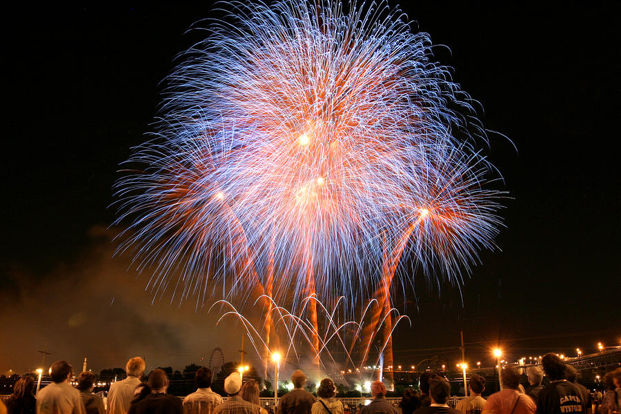 Montreal Fireworks Celebration  Photograph